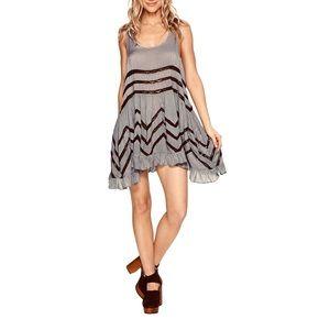 Free People Lace & Polka Dot Trapeze Dress